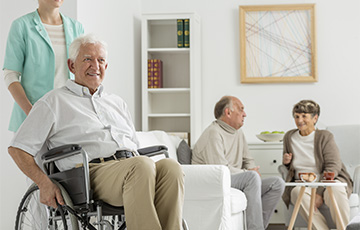 Elderly people in a home