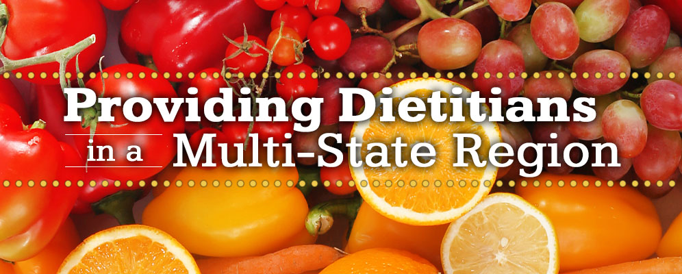 Providing dietitians in a multi-state region